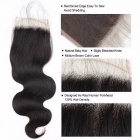 4 Bundles Malaysian Body Wave Human Hair With Closure, Swiss Lace 100% Non Remy Human Hair Lace Closure 14 14 16 16 closure12Free Part