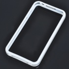 Stylish Protective Bumper Frame Cover Case for Iphone 4 - White + Transparent