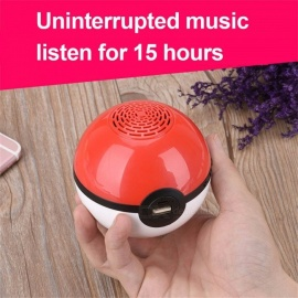 Portable Wireless Bluetooth Stereo Speaker Supports TF Card Radio, Mobile Power Bank For Cell Phone Red/Speaker