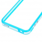 Stylish Protective Bumper Frame Cover Case for Iphone 4 - Blue + Transparent