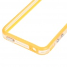 Stylish Protective Bumper Frame Cover Case for Iphone 4 - Orange + Transparent