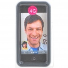 Stylish Protective Bumper Frame Cover Case for Iphone 4 - Black + Transparent
