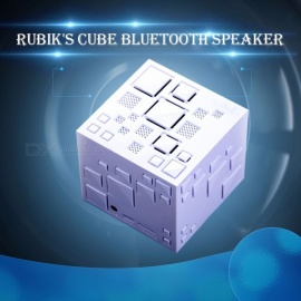 Mini Magic Cube Style Wireless Portable Bluetooth Speaker Stereo Sound Box MP3 Player With TF Card, Handsfree, FM Radio Black/Speaker