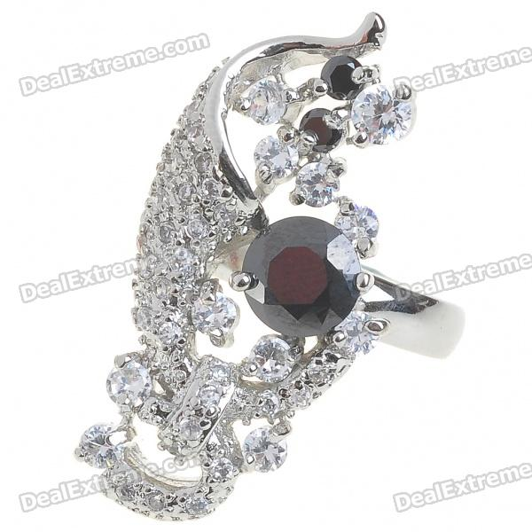 Elegant Fashion Imitated Diamond + Copper Alloy Ring - Gold (5#)