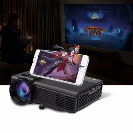 Projector M5 Portable Projector LED 1000 Lumens Home Cinema Digital Bluetooth Projector black