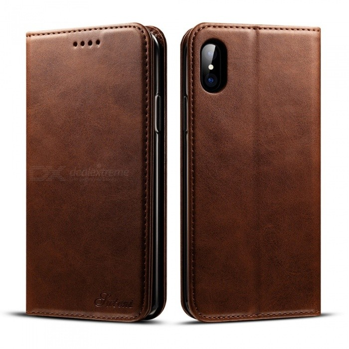 Retro Leather Case Flip Wallet Phone Cover For IPHONE X 2c1283739c5b8
