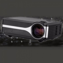 Portable Projector LED  1000 Lumens 1080P Digital Bluetooth Projector Home Theater Projector black