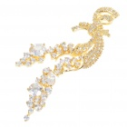 Elegant Crystal + Copper Alloy Necklace Pendant - Gold
