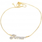 Exquisite Crystal + Copper Alloy Necklace - Amor (Gold)