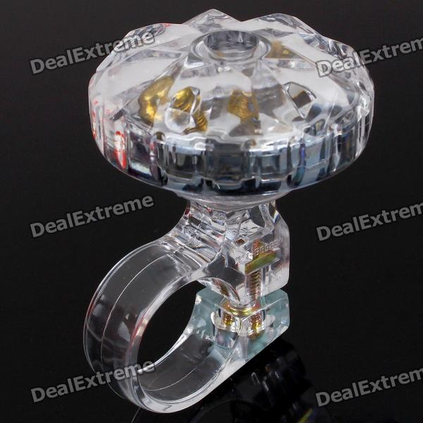 Rotate Diamond Style Bike Bicycle Bell - Transparent (90~100dB)