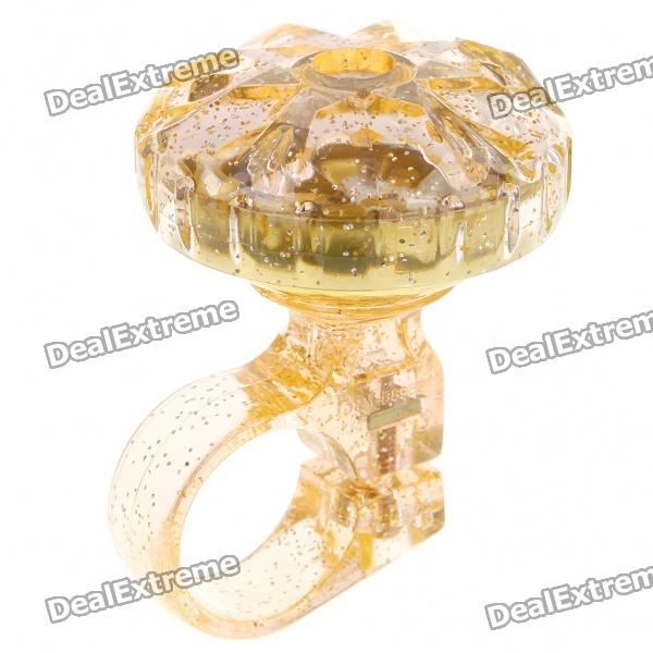 Rotate Diamond Style Bike Bicycle Bell - Gold (90~100dB)