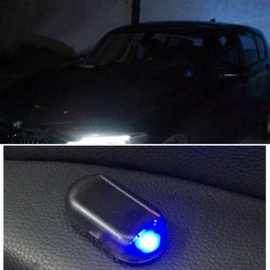 1 PCS Solar Energy Simulation Dummy Fake Alarm Warning Security Anti-Theft LED Flashing Light Blue