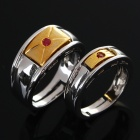 Stylish Couple Lovers Copper Alloy Rings (Size-Man 9/Woman 8)