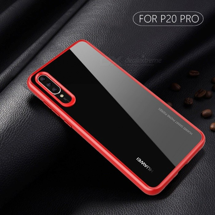 best loved 9f640 09f7c 2-in-1 TPU + PC Clear Protective Back Case Cover For Huawei P20 Pro, P20,  P20 Lite, Cell Phone Shockproof Case Red/P20 LITE/NOVA 3E
