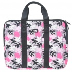 "Stylish Maple Leaf Protective Soft Carrying Bag with Zipped Close for 14"" Laptop (Pink)"