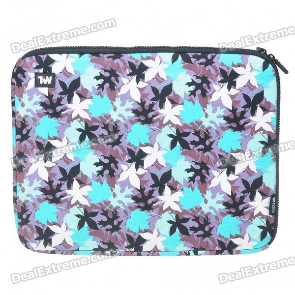"Stylish Maple Leaf Protective Soft Bag with Zipped Close for 14"" Laptop (Blue)"