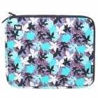 "Stylish Maple Leaf Protective Soft Bag with Zipped Close for 12"" Laptop (Blue)"