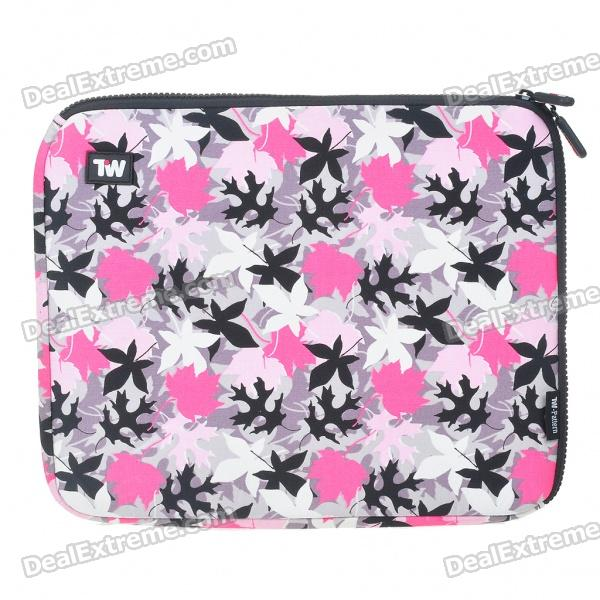 Stylish Maple Leaf Protective Soft Bag with Zipped Close for 12
