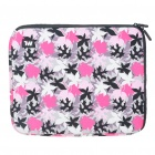 "Stylish Maple Leaf Protective Soft Bag with Zipped Close for 12"" Laptop (Pink)"