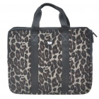 "Stylish Leopard Protective Soft Carrying Bag with Zipped Close for 14"" Laptop"