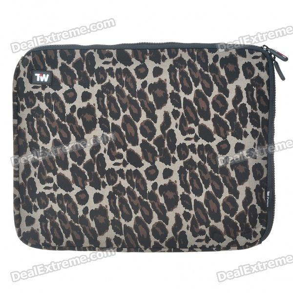 все цены на Stylish Leopard Protective Soft Bag with Zipped Close for 14
