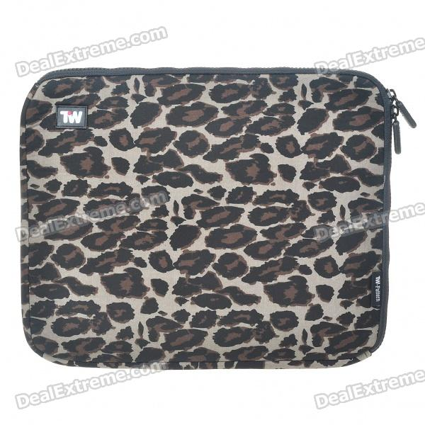 Stylish Leopard Protective Soft Bag with Zipped Close for 12