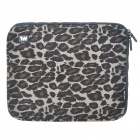"Stylish Leopard Protective Soft Bag with Zipped Close for 12"" Laptop"