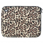 "Stylish Leopard Protective Soft Bag with Zipped Close for 14"" Laptop"