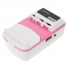 2000mAh Rechargeable Battery Universal Charger with Cellphone Adapters Set - Pink