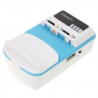 2000mAh Rechargeable Battery Universal Charger with Cellphone Adapters Set - Blue