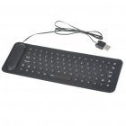 Foldable Flexible Compact Waterproof USB Silicone Keyboard - Color Assorted (85 Keys)