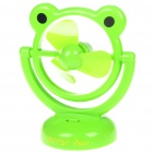 USB/3*AA Powered Cute Frog Style 3-Blade Cooling Desk Fan - Green