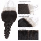 Loose Wave 4 Bundles With Closure, Baby Hair Swiss Lace, 100% Malaysian Human Hair Bundles With Closure 24 24 26 26 closure20Free Part