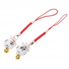 Cute Ceramics Lucky Cat Cell Phone Straps (2-Piece Set/Color Assorted)