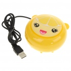 2-in-1 Compact USB Powered Vibrating Massager + Hand Warmer - Orange Girl Style (100CM-Length)