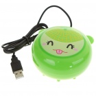 2-in-1 Compact USB Powered Vibrating Massager + Hand Warmer - Hami Melon Style (100CM-Length)