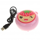 2-in-1 Compact USB Powered Vibrating Massager + Hand Warmer - Strawberry Style (100CM-Length)