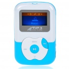 "Designer's USB Rechargeable Mini 0.9"" LCD MP3 Player with TF Slot - Blue + White"