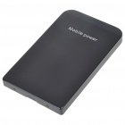 3000mAh Emergency Mobile Power Rechargeable Battery Pack with Cell Phone Adapter - Black