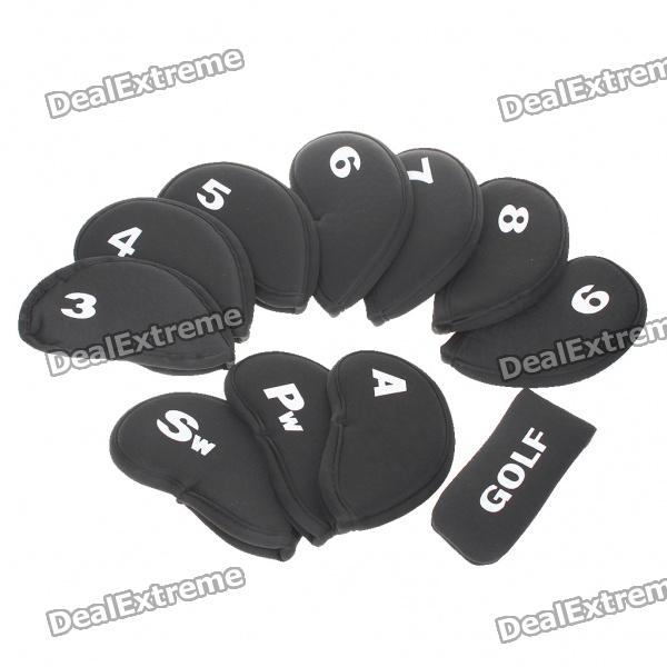 Soft Neoprene Golf Club Iron Putter Head Cover Set - Black (11-Piece) new men golf clubs cooyute gp platinum t golf putter 34 inch clubs putter dynamic gold r300 steel golf shaft free shipping