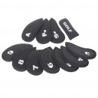 Macio Neoprene Golf Club Ferro Putter Head Cover Set - Preto (11 peças)