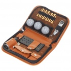 Vintage Golf Tools Tee/Multi-tool/Distance Finder/Scorer Set with PU Leather Carrying Bag