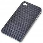 Stylish Protective Plastic Plating Backside Case for iPhone 4 - Black