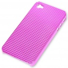 Stylish Protective Plastic Plating Backside Case for Iphone 4 - Purple