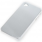 Stylish Protective Plastic Plating Backside Case for Iphone 4 - Silver