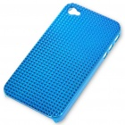 Stylish Protective Plastic Plating Backside Case for Iphone 4 - Blue