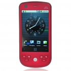 "H6 3.2 ""Touch Screen Android 2.2.1 Dual SIM Quadband GSM PDA Handy-TV w / Wi-Fi / AGPS - Red"