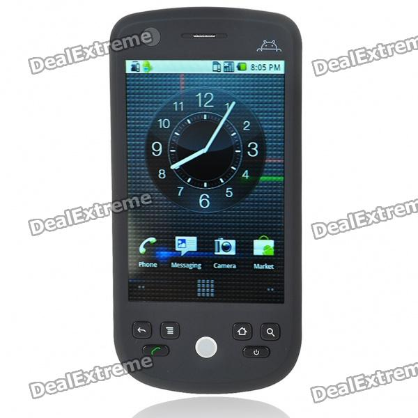"""H6 3.2"""" Touch Screen Android 2.2.1 Dual SIM Quadband PDA GSM TV Cell Phone w/Wi-Fi/AGPS - Black"""