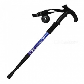 Outdoor Portable Hiking Camping Poles Trekking Pole Stick - Black