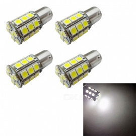 HONSCO 4Pcs Car LED 1156 BA15S P21W 27SMD 5050 LED Car Tail Bulb Brake Lights, DC12V 3W, White Light